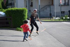 Having fun. (Logatec social center, Slovenia)