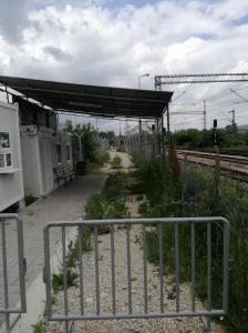 Refugee camp in Tabanovce, Macedonia.