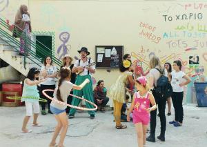 Having fun at PIKPA camp - Lesvos, Greece