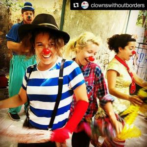 Clown performance in Minors' center - Lesvos, Greece