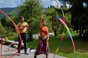 Preparing for clowning! - Pohorje, Slovenia