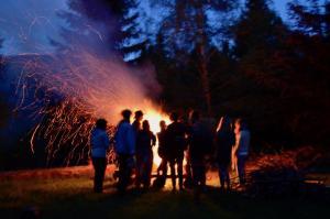 Camp fire - Pohorje, Slovenia