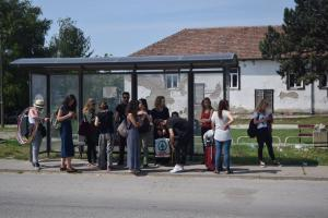 Waiting for the bus... Subotica (Tavankut), Serbia