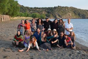Group photo on the beach - Lesvos, Greece