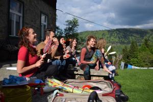 Having fun, Training center in Pohorje, Slovenia