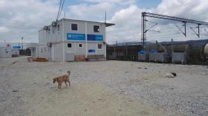 Refugee camp in Tabanovce, Macedonia. Photo by: Suvi Helko